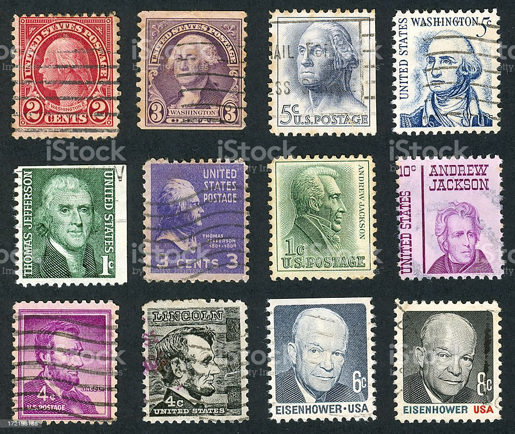 United States Stamps royalty-free stock photo