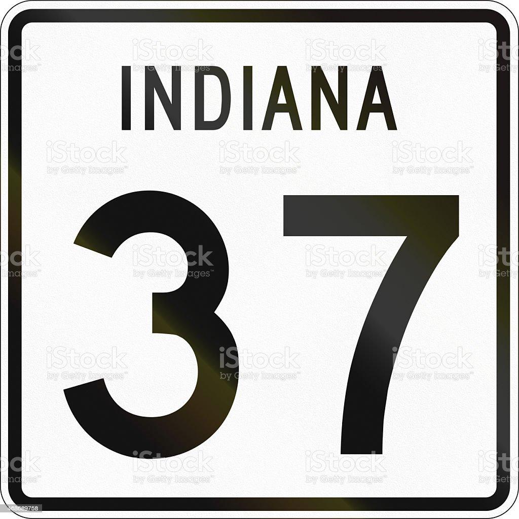 United States State Highway Indiana stock photo