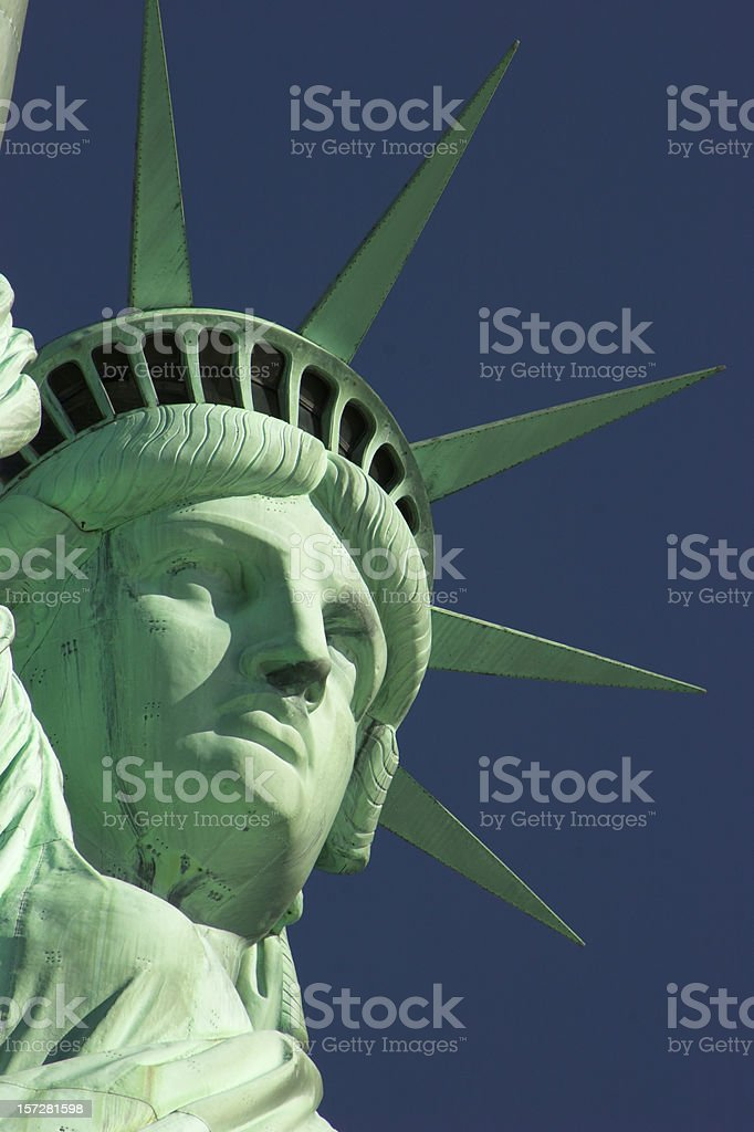 United States: Statue of liberty in New York City royalty-free stock photo