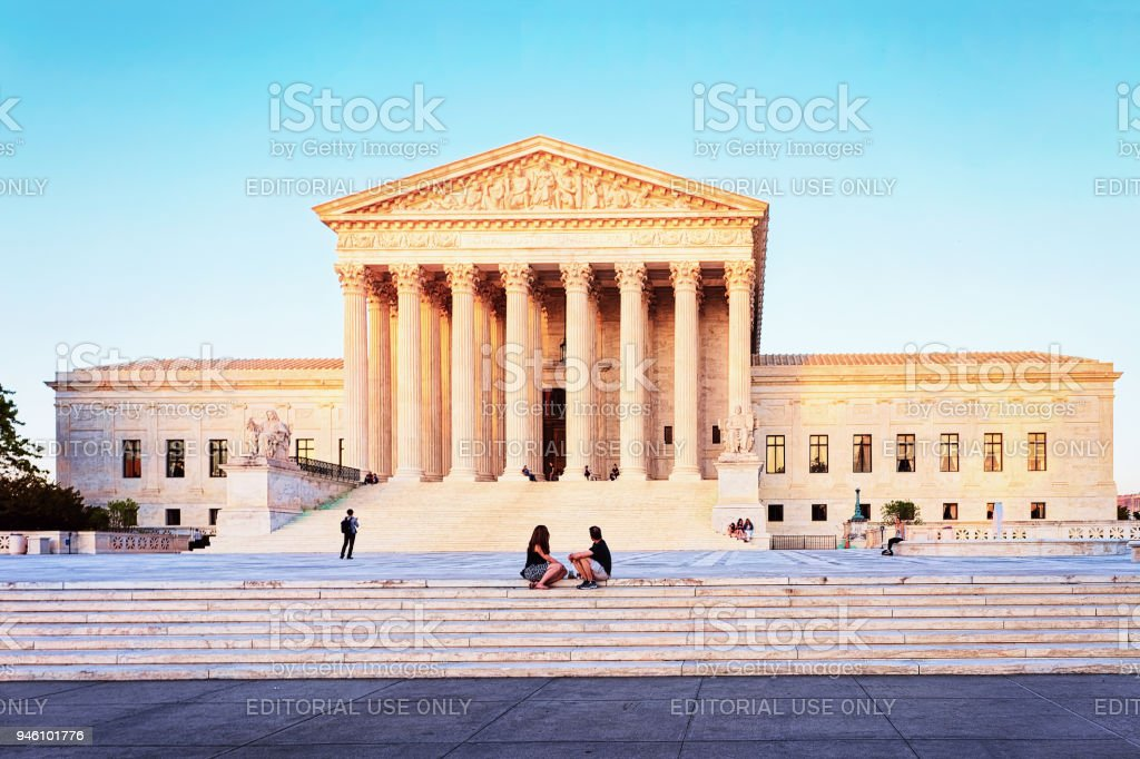 United States Supreme Court Building  at Washington DC stock photo
