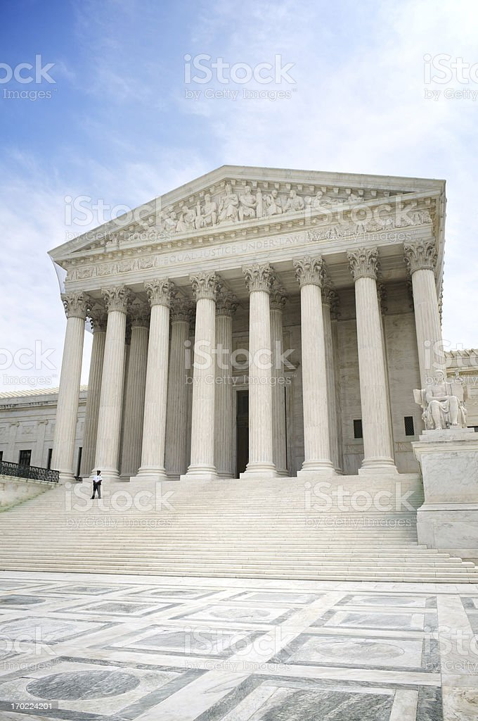 United States Supreme Court Building Front View royalty-free stock photo
