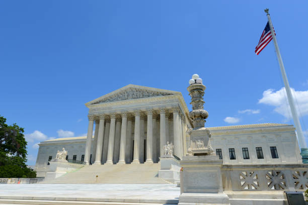 United States Supreme Court Building in Washington DC, USA stock photo