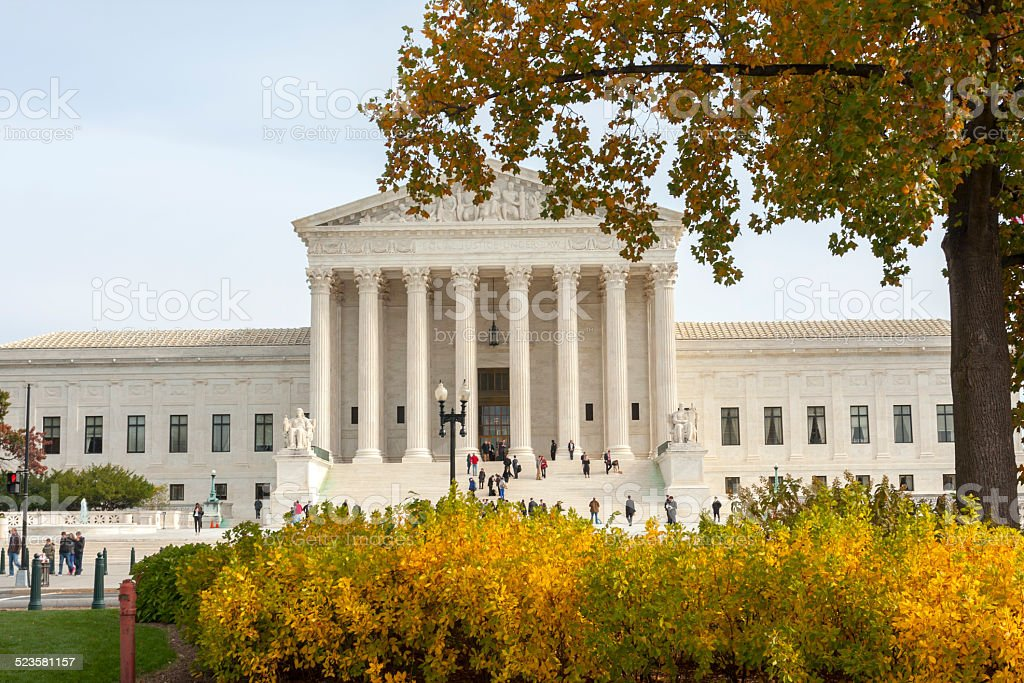 United States Supreme Court Building stock photo