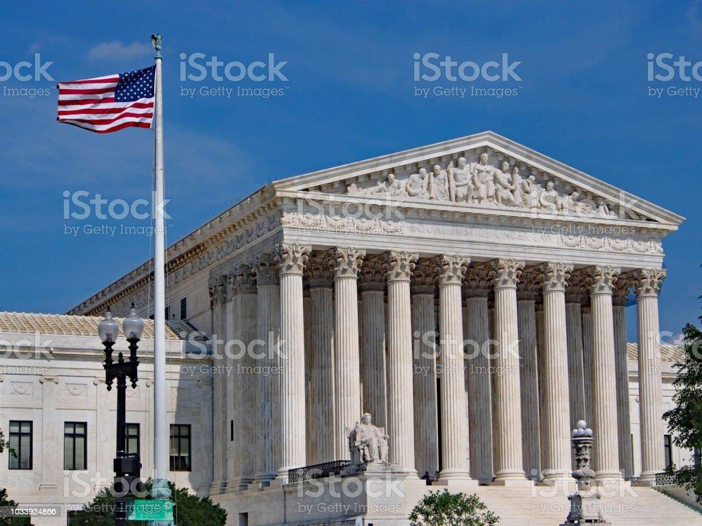 United States Supreme Court Building, Washington, DC stock photo
