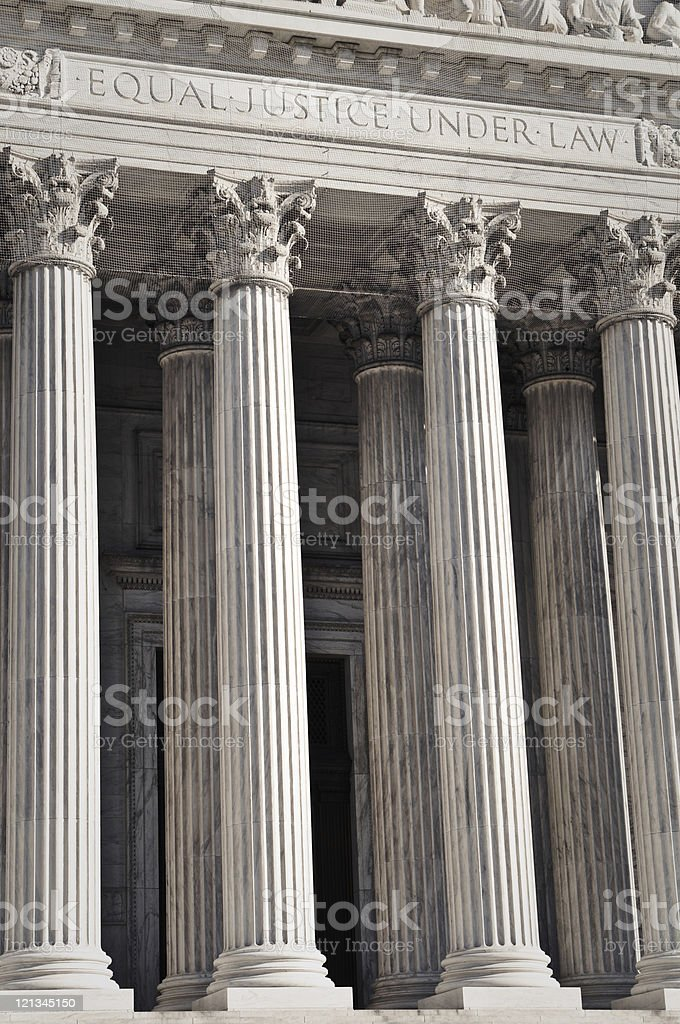 United States Supreme Court Entrance royalty-free stock photo