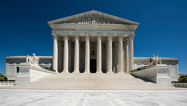United States Supreme Court Full Frontal View Nobody stock photo