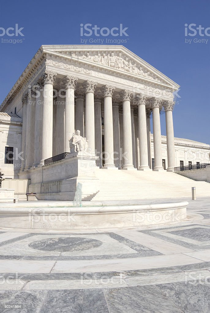 United States Supreme Court house from the outside royalty-free stock photo