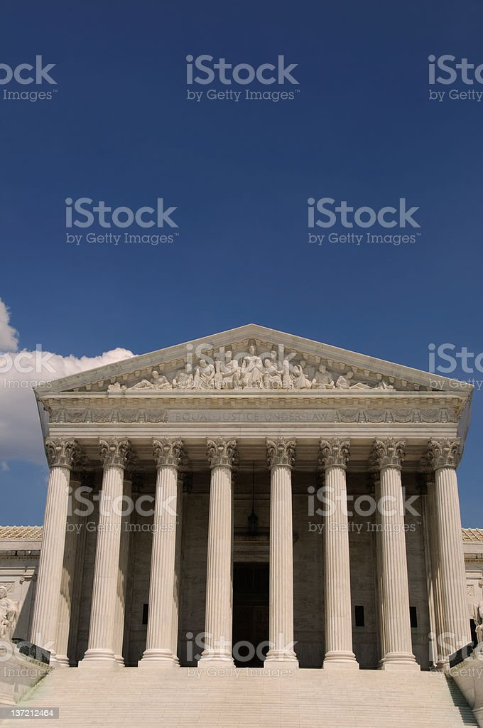 United States Supreme Court in Washington DC. royalty-free stock photo