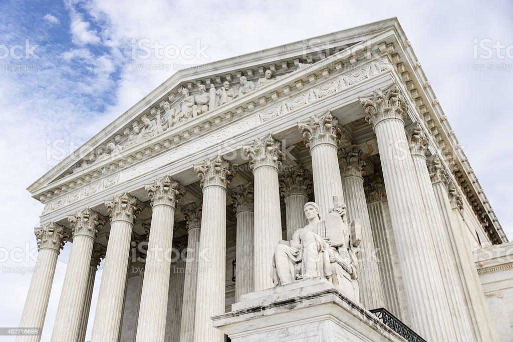 United States Supreme Court in Washington DC.-XXXL royalty-free stock photo
