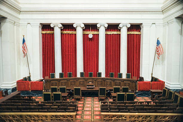 United States Supreme Court Interior of US Supreme Court in Washington DC. us supreme court building stock pictures, royalty-free photos & images