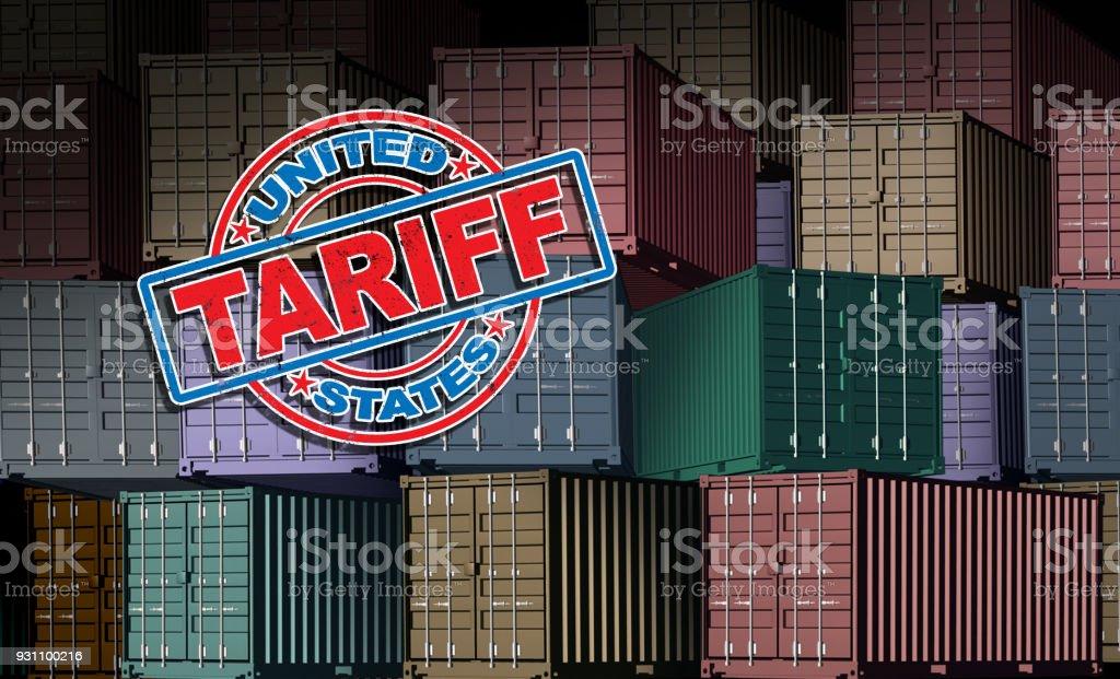 Amerika Birleşik Devletleri tarife - Royalty-free ABD Stok görsel