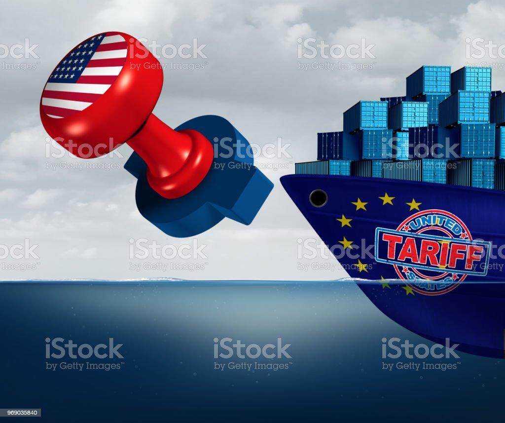 Aranceles de Estados Unidos en Europa - foto de stock