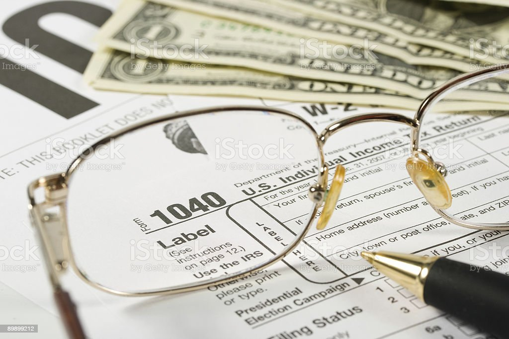 United States Tax Form royalty-free stock photo