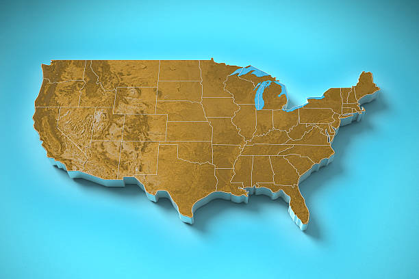 United States Map Pictures Images And Stock Photos IStock - Us map topography