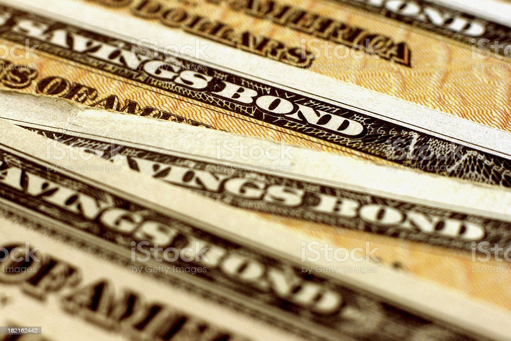 United States Treasury (EE Savings) Bond - Horizontal Close-Up royalty-free stock photo