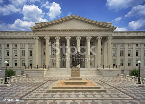 The United States Treasury Department in Washington D.C.