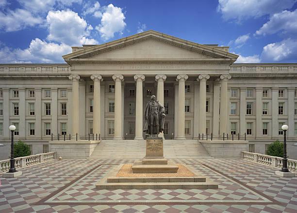 Edificio de tesorería de los Estados Unidos - foto de stock