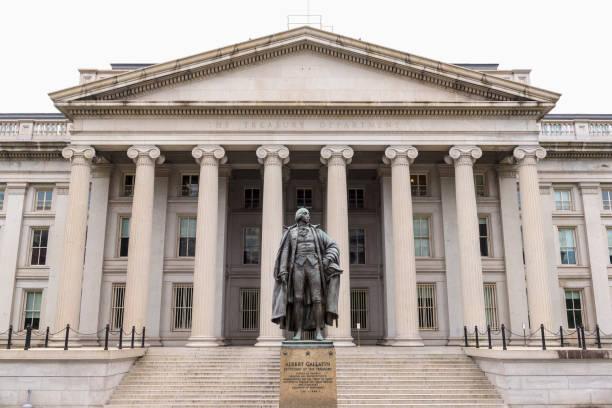Edificio del tesoro de Estados Unidos, Washington DC - foto de stock