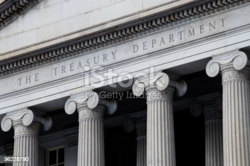 The United States Treasury Department building in Washington, D.C.