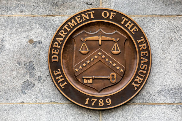 United States Treasury The United States Treasury monetary policy stock pictures, royalty-free photos & images
