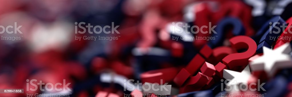 United States uncertain future 3d rendering stock photo