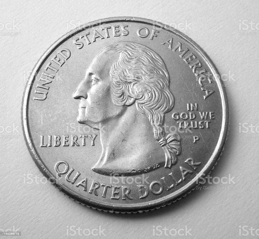 United States Washington Quarter stock photo