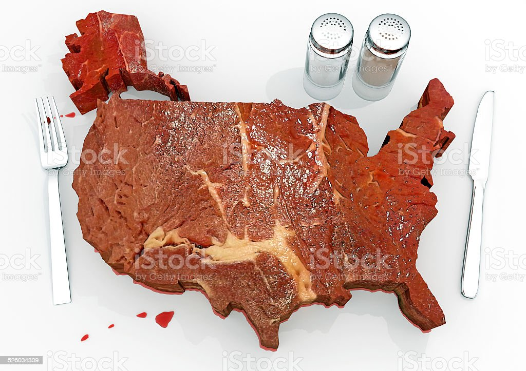 United Steaks of America stock photo