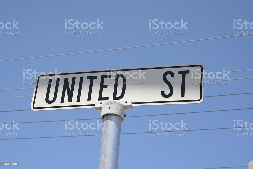 United Street royalty-free stock photo