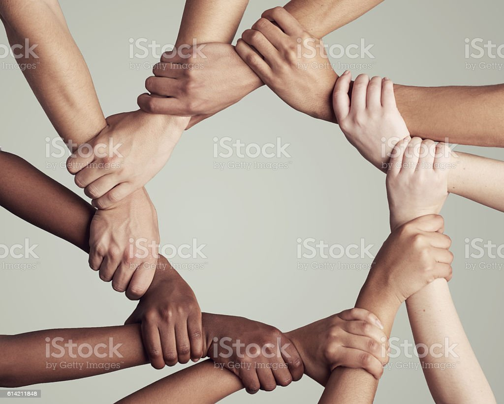 United through their diversity stock photo