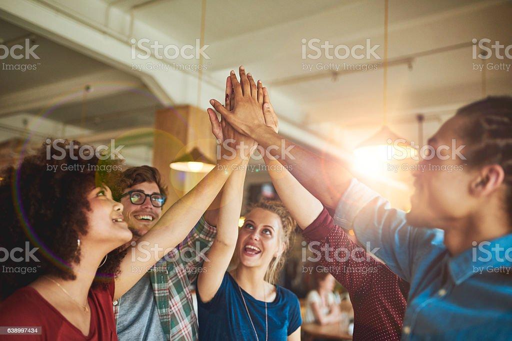 United together stock photo