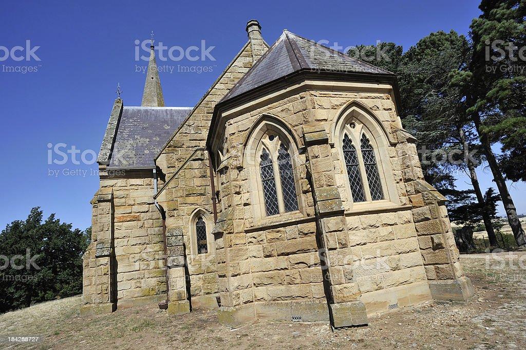 Uniting Church at Ross in Tasmania, stock photo