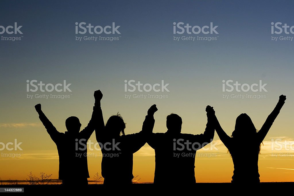 Unity and Acheivement stock photo