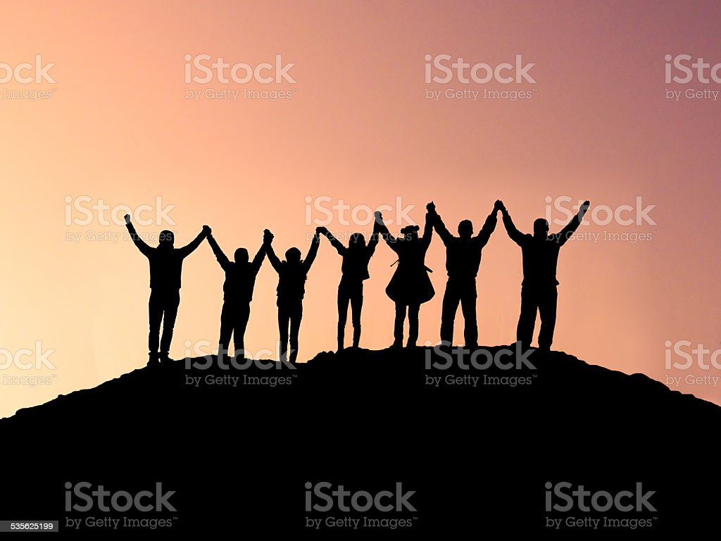 Unity and Achievement stock photo