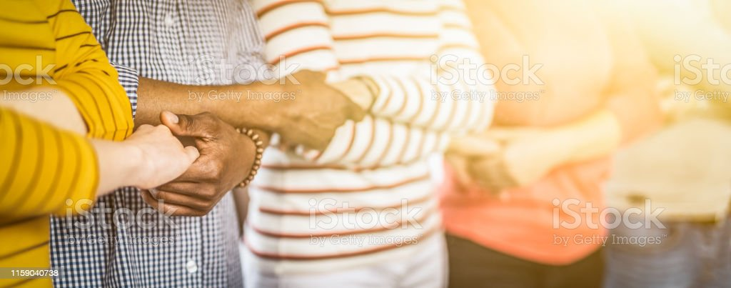 Unity and teamwork concept. - Zbiór zdjęć royalty-free (Afroamerykanin)