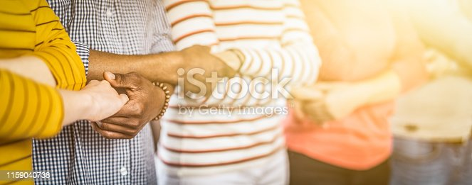 istock Unity and teamwork concept. 1159040738