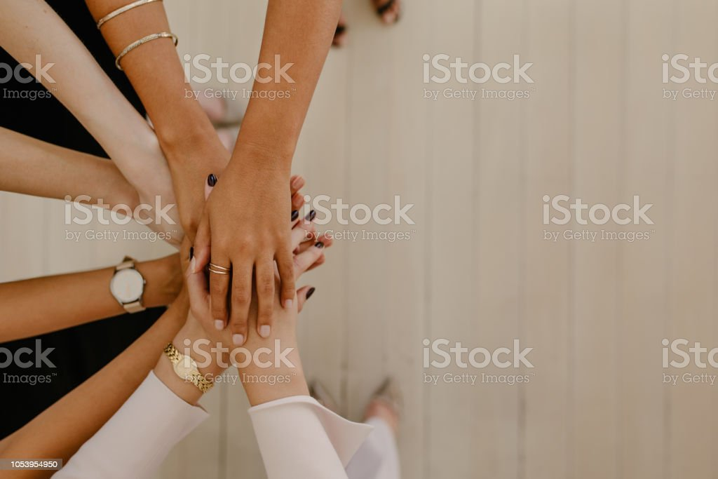 Unity and teamwork stock photo