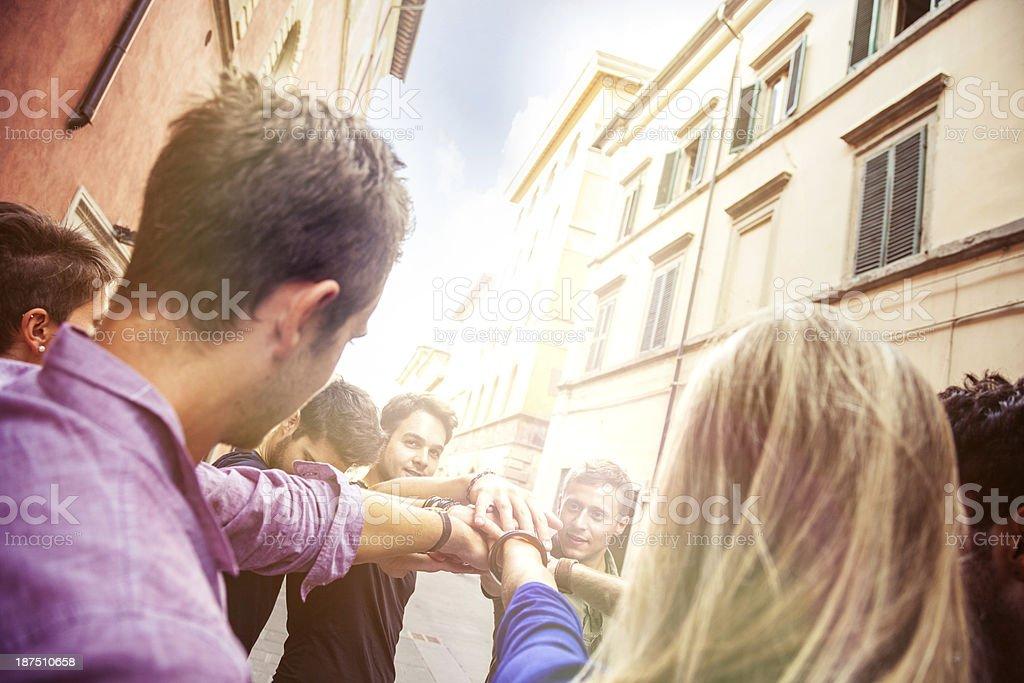 Unity, happy students royalty-free stock photo