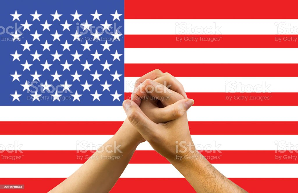 unity in USA stock photo