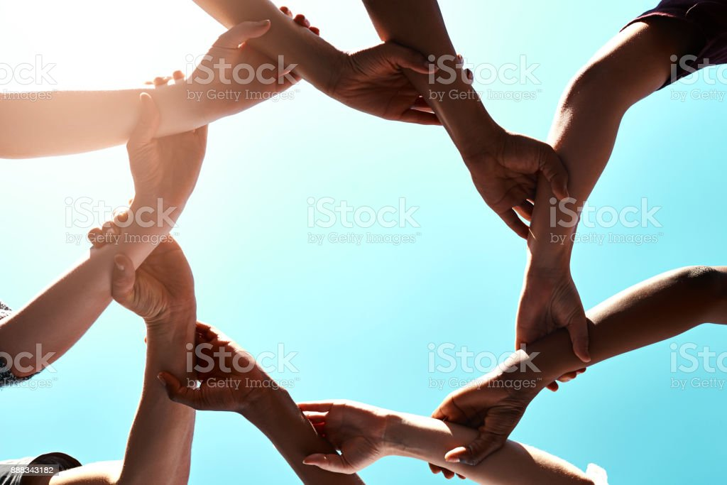 Unity is the most powerful weapon stock photo