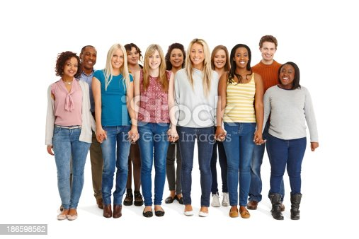 istock Unity - Large group of people standing together 186598562