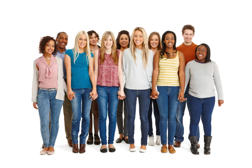 514325215 istock photo Unity - Large group of people standing together 186598562