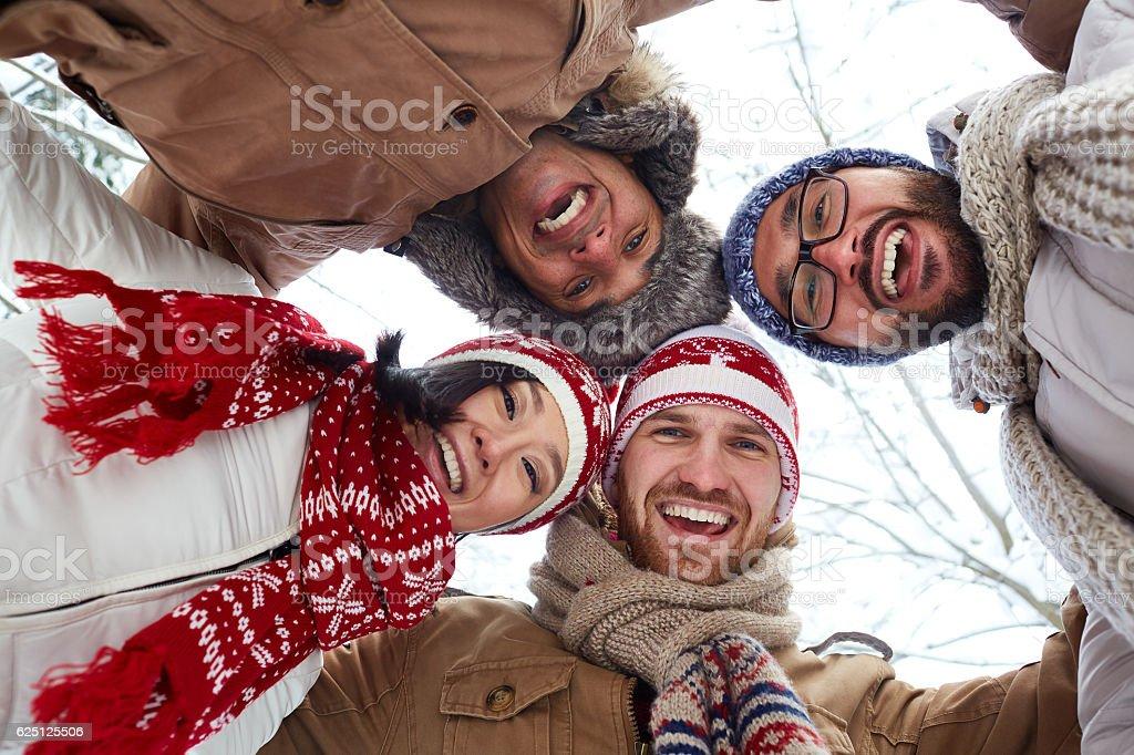 Einheit von Freunden Lizenzfreies stock-foto