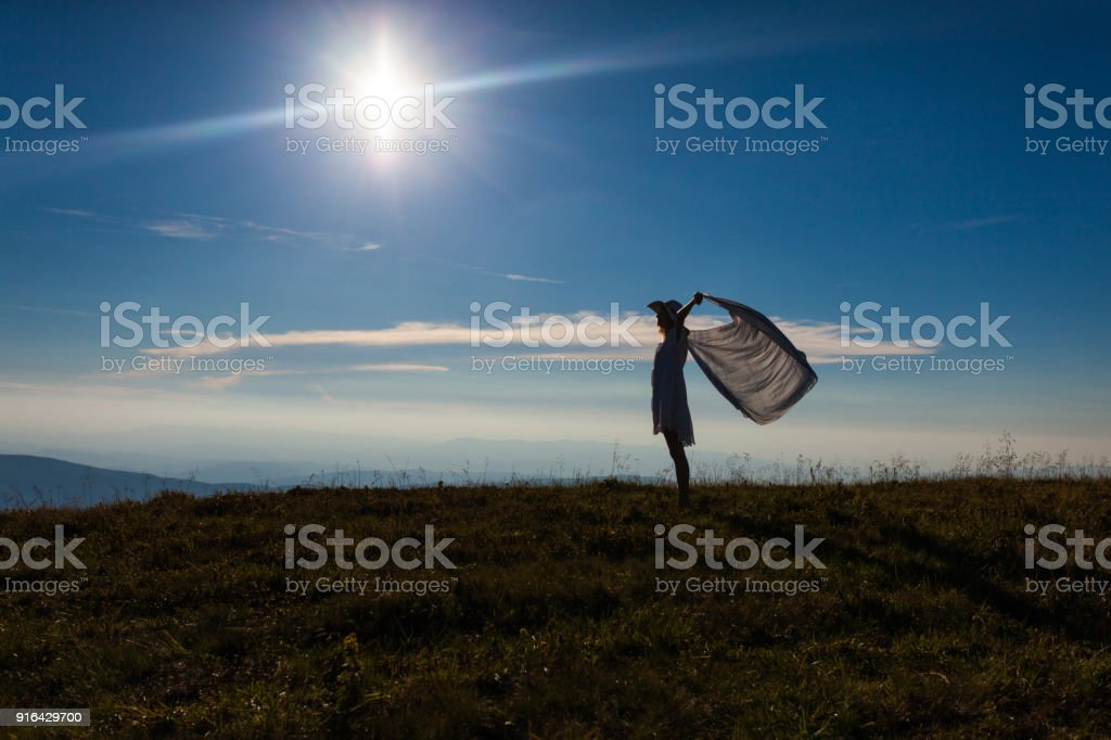 Unity Of The Girl With Nature Stock Photo - Download Image Now