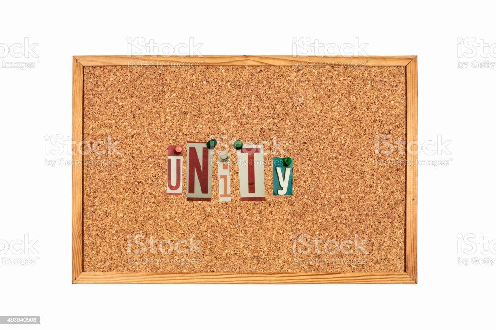 Unity,word royalty-free stock photo