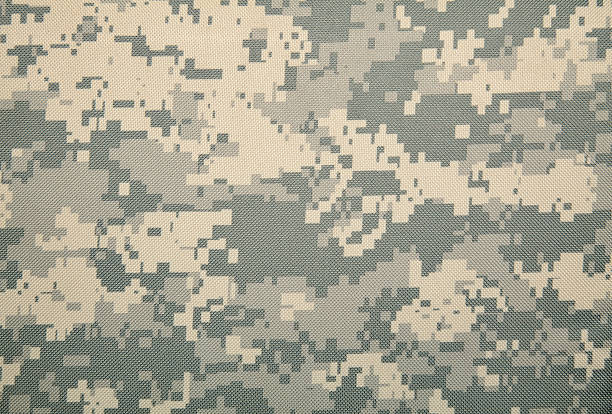 Universal Camouflage Pattern (COLD) US Army digital camouflage pattern. camouflage stock pictures, royalty-free photos & images