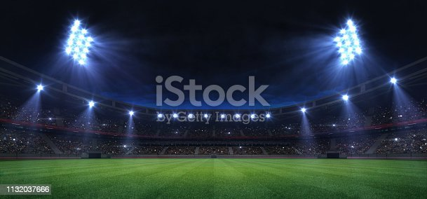 grand sport building digital 3D background advertisement background illustration