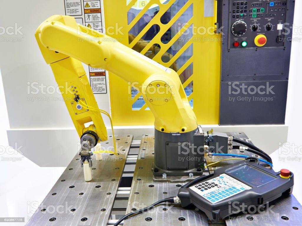 Universal industrial robot manipulator stock photo