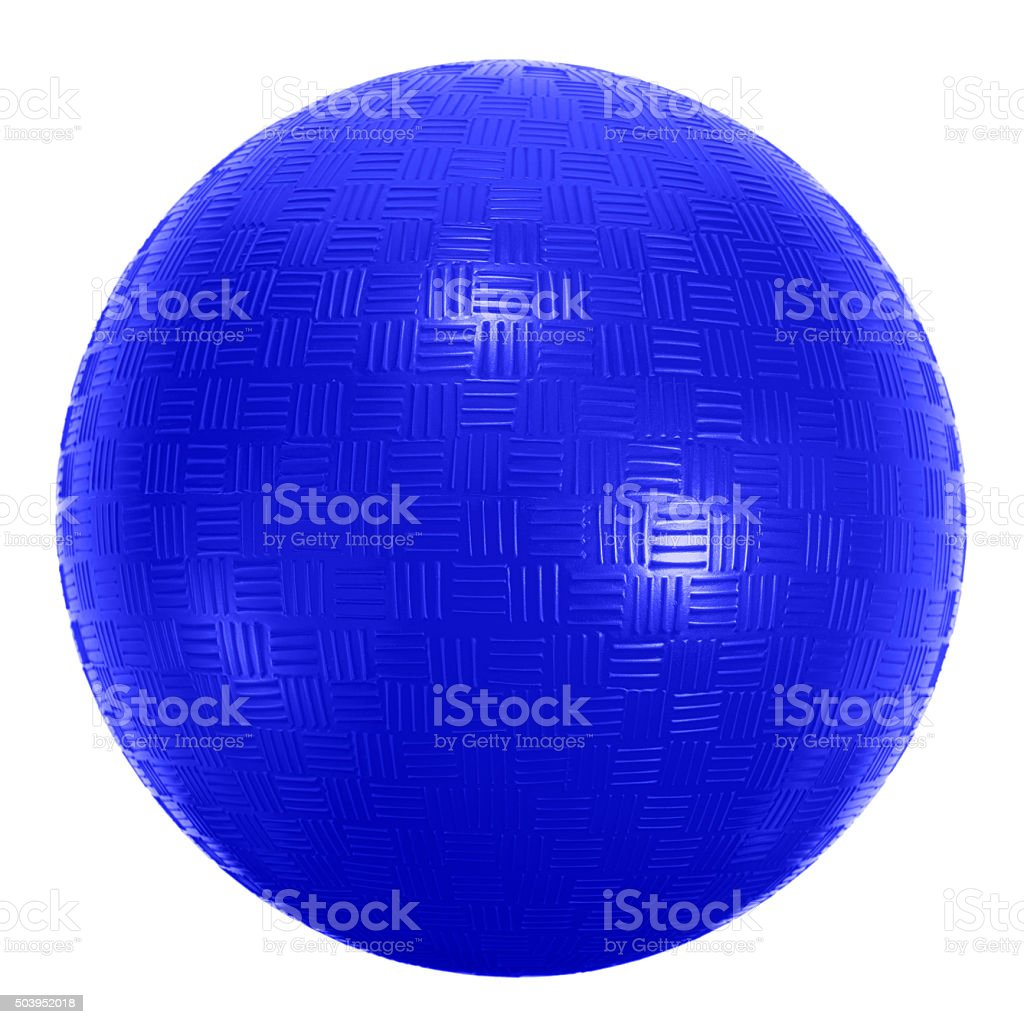 Universal playground blue sports ball on  white background stock photo
