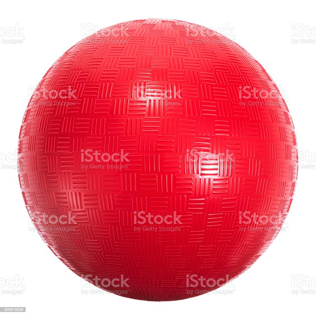 Universal playground red sports ball stock photo