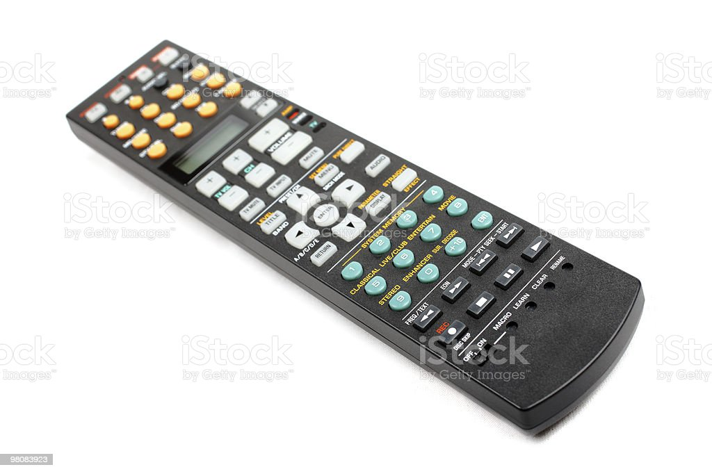 Universal remote control isolated on white. royalty-free stock photo